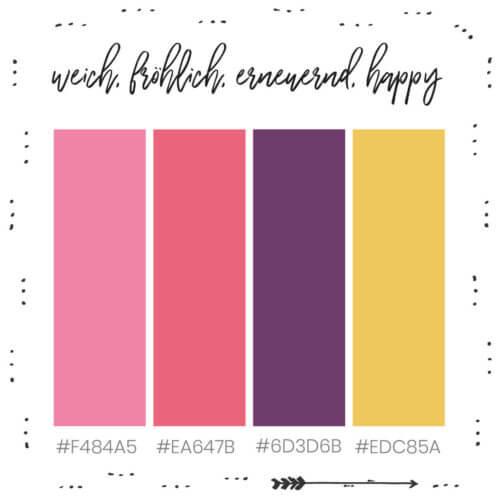 Weiche, fröhliche, erneuernde und happy Farben