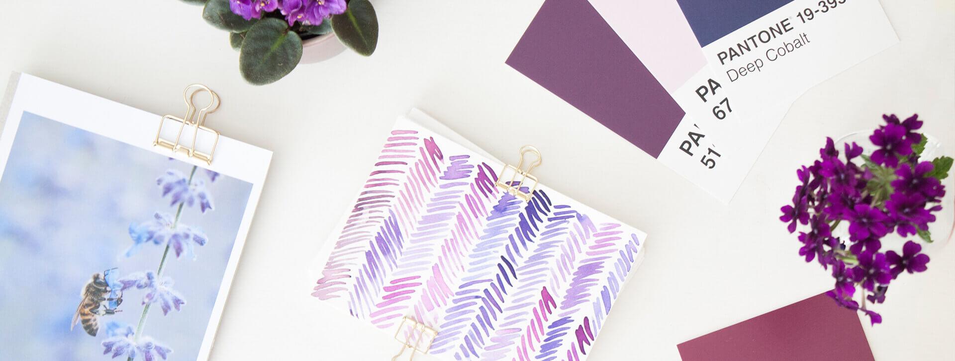Violett im Branding