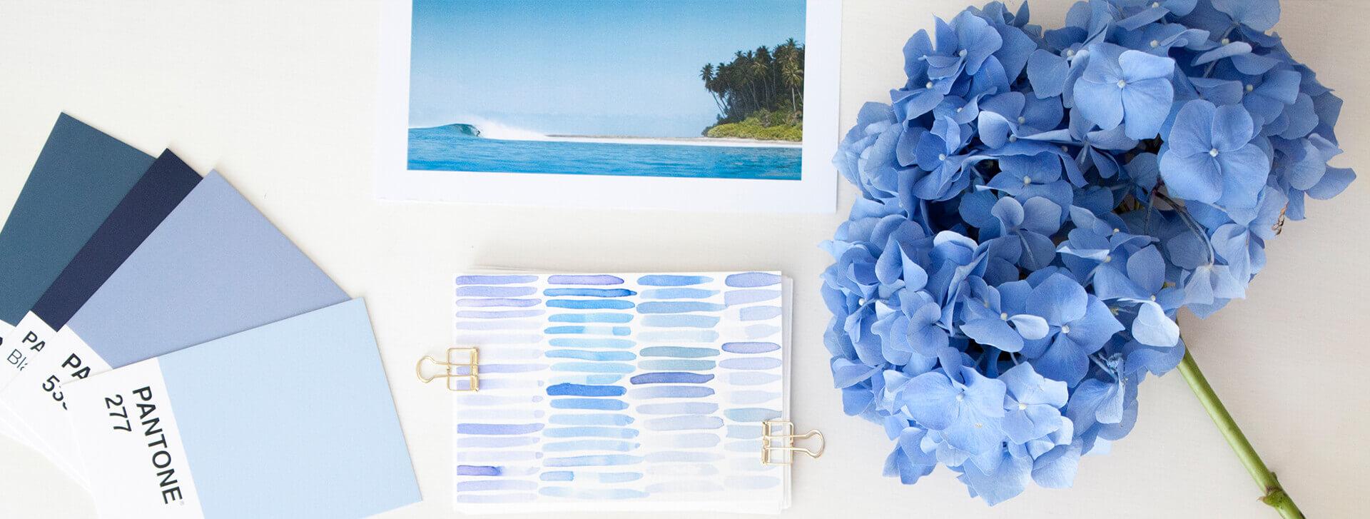 Blau als Brandingfarbe