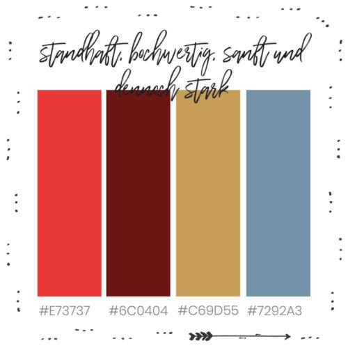 Brandingfarben für Standhaftigkeit, hochwertig, sanfte und dennoch starke Unternehmen